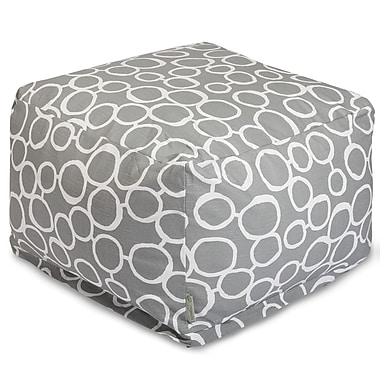 Majestic Home Goods Fusion Ottoman; Gray
