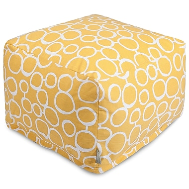Majestic Home Goods Fusion Ottoman; Yellow