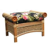 Spice Islands Maui Twist Ottoman; Hamakua Ebony