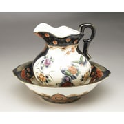 AA Importing Chinoiserie 2 Piece Bowl and Pitcher Set