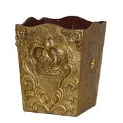 Hickory Manor House Crown Resin Waste Basket; Gold Leaf