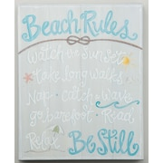 Glory Haus Beach 'Beach Rules Montage' Textual Art on Canvas