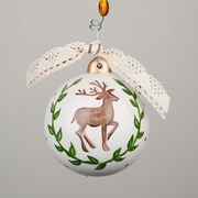 Glory Haus Merry Christmas Y'all Deer and Laurel Ornament