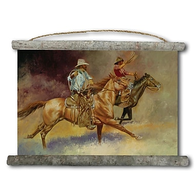 WGI GALLERY 'Moving Out Cowboy' Painting Print on White Canvas