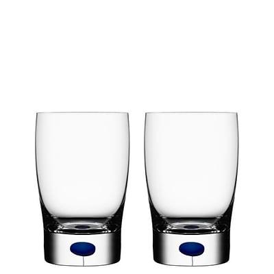 Orrefors Intermezzo Water/Juice Glass (Set of 2); Blue WYF078278929635