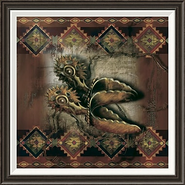Global Gallery 'Western Spur' by Alma Lee Framed Graphic Art; 28'' H x 28'' W x 1.5'' D