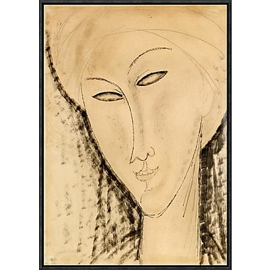 Global Gallery 'Tete De Femme' by Amedeo Modigliani Framed Graphic Art; 22'' H x 15.51'' W x 1.5'' D