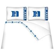 Sports Coverage NCAA Duke Blue Devils Sheet Set; Queen