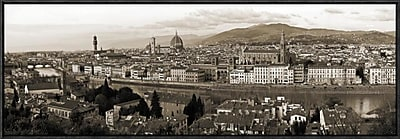 Global Gallery 'Panoramic View of Florence' by Vadim Ratsenskiy Framed Photographic Print