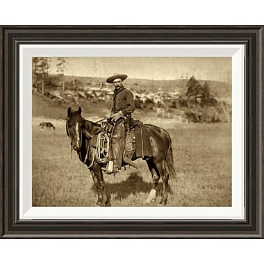 Global Gallery 'Cow Boy' by John C.H. Grabill Framed Photographic Print; 16'' H x 20'' W x 1.5'' D