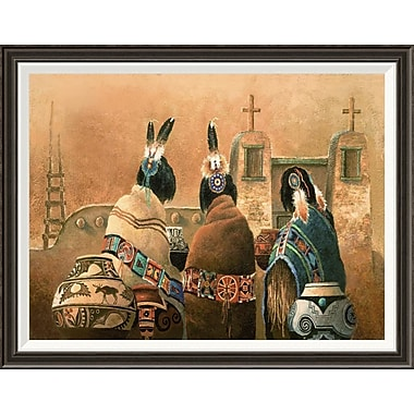 Global Gallery 'Mission Trio' by James Lee Framed Graphic Art; 28'' H x 36'' W x 1.5'' D