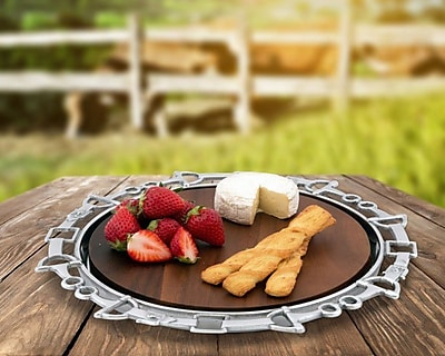 Arthur Court Equestrian Wood Cheese Tray