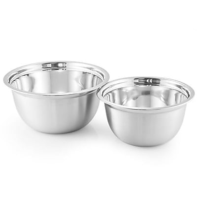 McSunley 2 Piece Stainless Steel Mixing Bowl