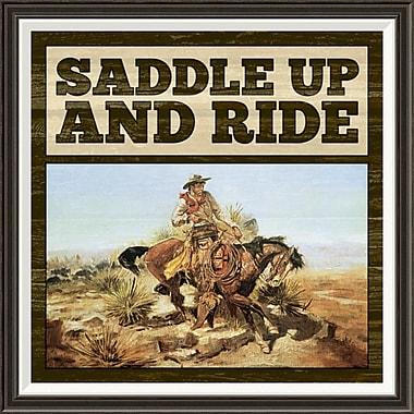 Global Gallery 'Western - Saddle Up' by BG.Studio Framed Wall Art; 34'' H x 34'' W x 1.5'' D