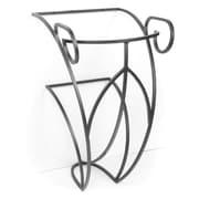 D'Vontz Iron Victoria 17'' Single Pedestal Bathroom Vanity Base; Pewter