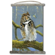 WGI GALLERY 'Fearless Owl and Hummingbird' Painting Print on White Canvas