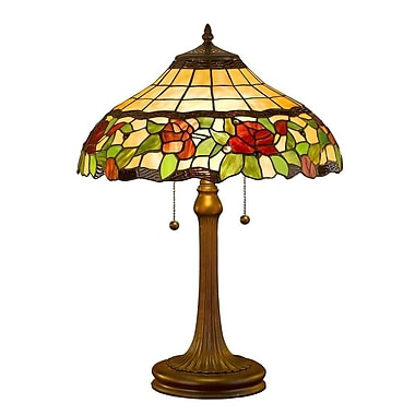 AmoraLighting Floral 23'' Table Lamp