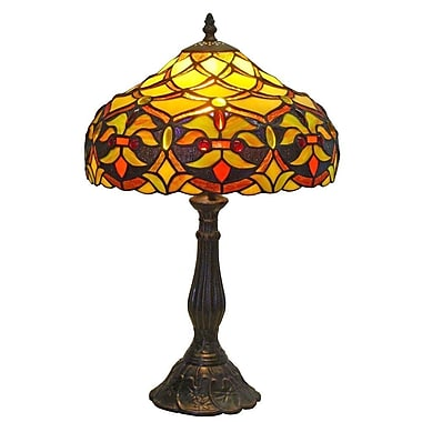 AmoraLighting Floral 19'' Table Lamp