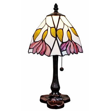 AmoraLighting Floral 15.5'' Table Lamp
