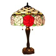 AmoraLighting Roses 25'' Table Lamp