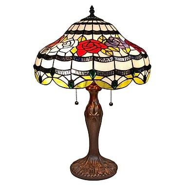AmoraLighting Roses 24'' Table Lamp