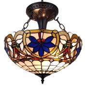 AmoraLighting 2-Light Bowl Pendant