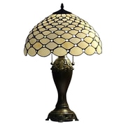 AmoraLighting Chandelle 25'' Table Lamp