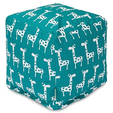 Majestic Home Goods Stretch Cube Ottoman; Turquoise