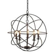 Y Decor Infinity 5-Light Candle-Style Chandelier; Rustic