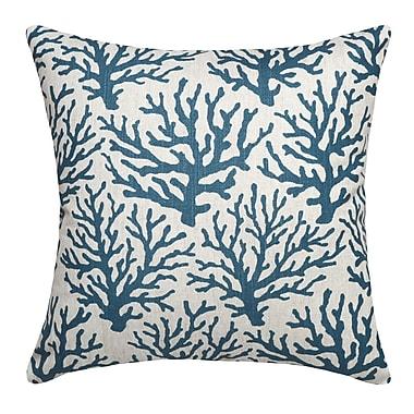 123 Creations Linen Throw Pillow; Navy Blue