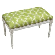 123 Creations Trellis Upholstered Entryway Bench; Chartreuse Green