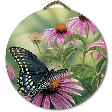 WGI GALLERY 'Black Swallowtail Butterfly' Painting Print on Wood