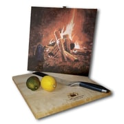 WGI GALLERY Evening Campfire 12'' x 12'' Cutting Board