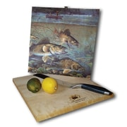 WGI GALLERY Fisherman's Walleye 12'' x 12'' Cutting Board