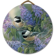 WGI GALLERY 'Chickadees and Lilac' Painting Print on Wood