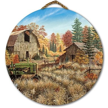 WGI GALLERY 'Deer Valley' Painting Print on Wood