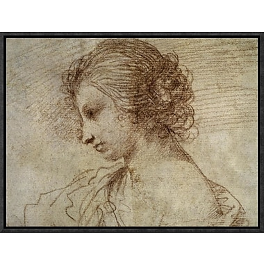 Global Gallery 'Profile of a Woman' by Guercino Framed Graphic Art; 12'' H x 16'' W x 1.5'' D