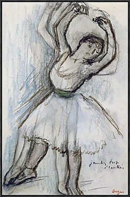 Global Gallery 'Study of a Dancer' by Edgar Degas Framed Graphic Art; 36'' H x 22.9'' W x 1.5'' D