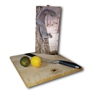 WGI GALLERY Morning Feed (Squirrels) 12'' x 6'' Cutting Board