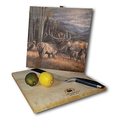 WGI GALLERY Meadow Music Elk 12'' x 12'' Cutting Board