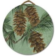 WGI GALLERY 'Pine Cone New' Painting Print on Wood