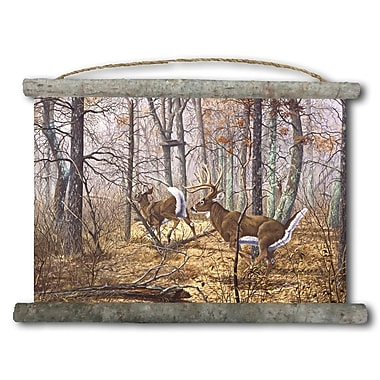 WGI GALLERY 'Autumn Pursuit' Painting Print on White Canvas