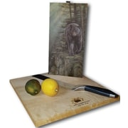 WGI GALLERY Rocky Outcropping Bear 12'' x 6'' Cutting Board