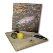 WGI GALLERY Rainbow Trout 12'' x 12'' Cutting Board