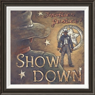 Global Gallery 'Show Down' by Janet Kruskamp Framed Graphic Art; 22'' H x 22'' W x 1.5'' D