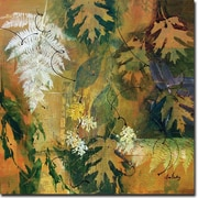 WGI GALLERY 'Leaves Maple and Fern' Painting Print on Wood