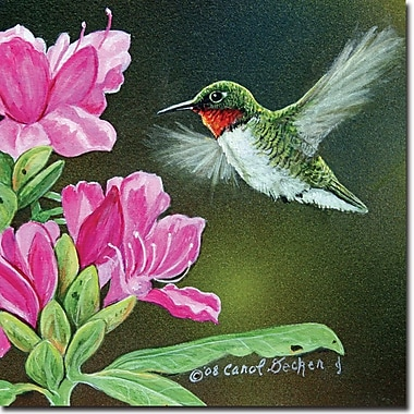 WGI GALLERY 'Opening Day Hummingbird' Painting Print on Wood