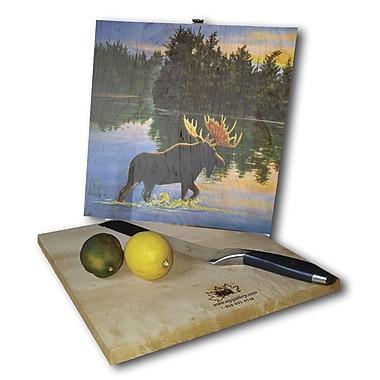 WGI GALLERY Lake Moose 12'' x 12'' Cutting Board