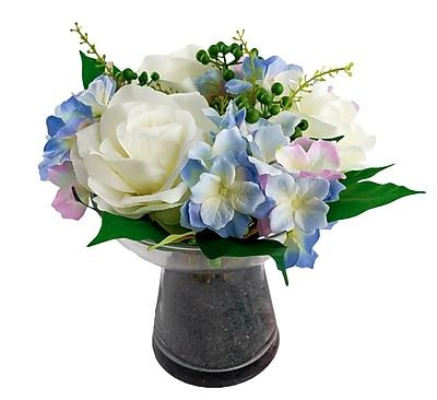 Red Vanilla Blair Roses / Hydrangea Bouquet