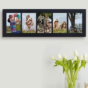 AdecoTrading 5 Opening Wall Hanging Picture Frame; Black